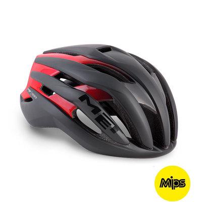 MET Trenta mips zwart-rood racefiets helm - slechts 225 gram! - kan ook met verlichting