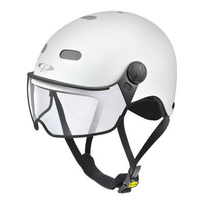 CP Carachillo E-bike helm wit - trendy fietshelm met vizier voor brildragers ideaal