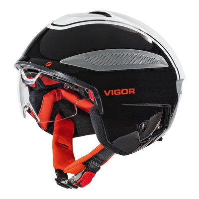 Cratoni Vigor Zwart-Wit-Rood - Pedelec Helm - Fietshelm met Vizier & Reflector